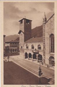 COMO,  Italy , 1900-10s ; Piazza Duomo e Broletto