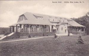 Social Hall White Roe Lake New York Albertype
