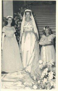Royal wedding photo postcard royal bride & bridesmaids