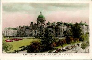 Vtg Postkarte RPPC Provinzial Parlament Gebäude Victoria BC Unbenutzt Gowen