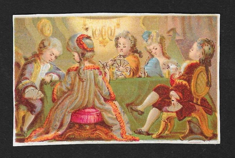 VICTORIAN TRADE CARD Fancy Card Playing Party