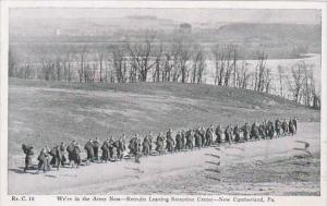 Pennsylvania New Cumberland Recruits Leaving Reception Center 1946