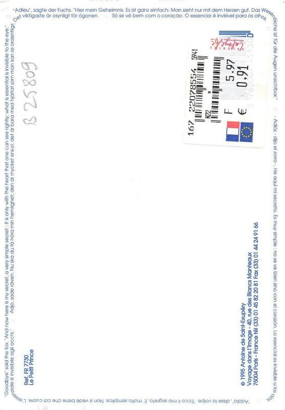 B25809 Le petit prince Antoine de Saint Exupery