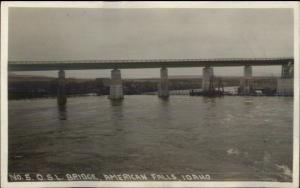 American Falls ID OSL Bridge c1915 Real Photo Postcard