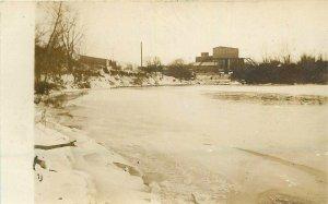 C-1910 Sioux Falls Dakota River & Mill RPPC Photo Postcard 20-6849