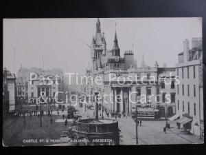 Old PC - Aberdeen: Castle Street & Municipal Buildings showing Trams