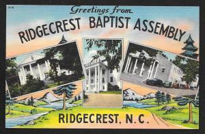 Ridgecrest Baptist Assembly Multi-View Ridgecrest North Carolina Unused c1950s