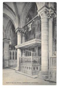 UK Canterbury Cathedral Tomb of the Black Prince Vintage Wildey Postcard
