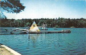 Hanson Massachusetts Camp Kiwanee Camp Fire Girls Vintage Postcard J76284