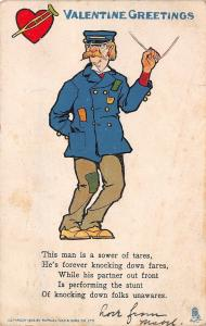 Valentine~Sower of Tares on Trolley Line~Partner Knocks Folks Down~TUCK Ser 7