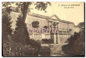 Postcard Old Chateu Compiegne View Park