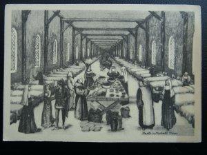 London Smithfield ST. BARTHOLOMEW HOSPITAL in Medieval Times Old Appeal Postcard
