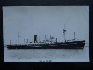 Shipping Cargo P&O S.S. SUNDA - Old RP Postcard