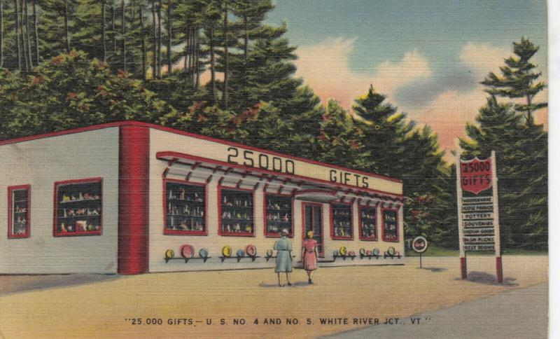 WHITE JUNCTION , Vermont , 30-40s ; 25,000 GIFTS Store