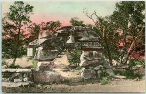 1920 GRAND CANYON Postcard Entrance to Hermit's Rest Fred Harvey HAND-COLORED