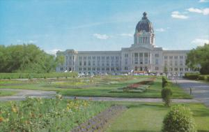 Legislative Building, Flower Beds, REGINA, Saskatchewan, Canada, 40-60's