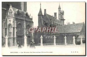Old Postcard The Museum of Bruges lace Gruuthuuse