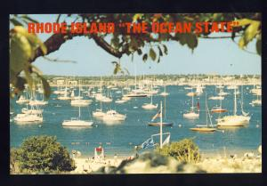 Newport, Rhode Island/RI Postcard, Newport Harbor From Fort Adams State Park