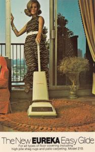 ADV: 1950-60s; The New Eureka Easy Glide, Vacuum