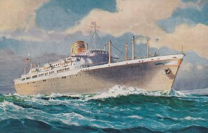 Panama Line , 50-60s ; Ocean Liners Ancon--Cristobal