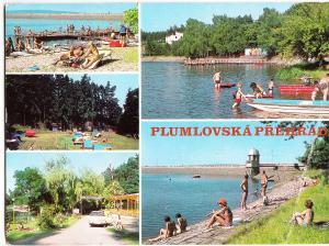 Czech Republic, PLUMLOVSKA PREHRADA, 1988 used Postcard