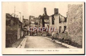 Postcard Modern Army Oradour sur Glane Route Nieul