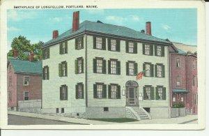 Portland, Maine, Birthplace Of Longfellow