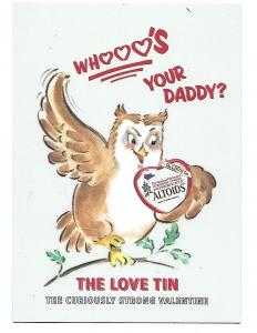 Whooo's Your Daddy Owl Altoids Love Tin Mints Rack Advertising Card 4 by 6