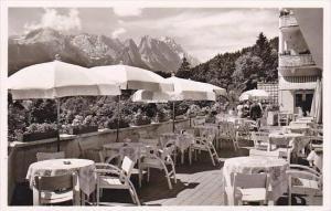 Germany Garmisch Golfhotel Sonnenbich Terrassen Restaurant Real Photo