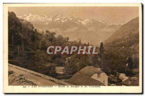 Old Postcard The Road Pyrenees Bareges and Tourmalet