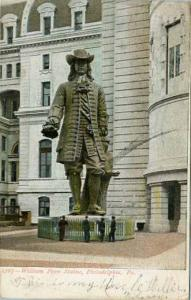 PA - Philadelphia. William Penn Statue