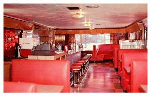 Maine Searsport , Light's Motel and Restaurant  , Interior of Diner