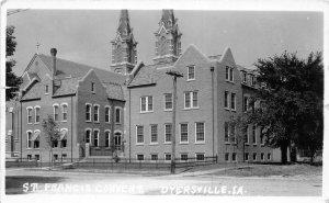 G7/ Dyersville Iowa RPPC Postcard c1920s St Francis Convent