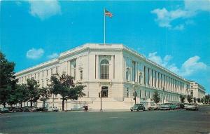 Washington DC~Senate Office Building~1950s Cars on Street~Volkswagen~Postcard