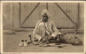 Native Life India? Ethnography c1910 Postcard MOCHI or SHOEMAKER COBBLER