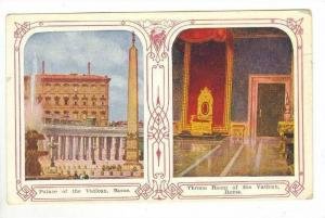 SPLITVIEW: Exterior of Palace of Vatican & Interior of Throne Room @ Vatican ...