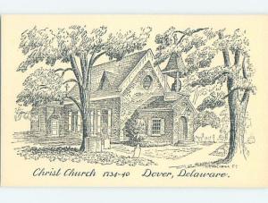 Unused Pre-1980 CHURCH SCENE Dover Delaware DE A5778