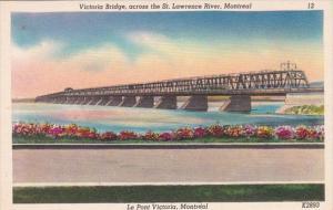 Canada Montreal Victoria Bridge Across St Lawrence River
