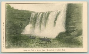 Cumberland Falls State Park Kentucky~Close Up of The Falls~c1910 B&W Postcard