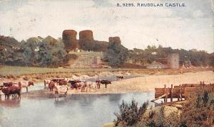 Rhuddlan Castle River Cattles Castle Chateau Panorama