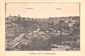 Israel Old Vintage Antique Post Card General view of Bethlehem non postcard b...