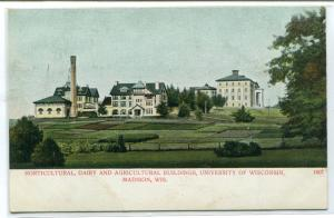 Agriculture Horticulture Dairy Buildings University Wisconsin Madison postcard