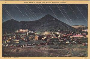 Arizona Night View Of Jerome and Mingus Mountain Curteich