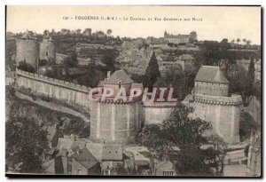 Old Postcard Fougeres and Chateau Vue Generale on Rille