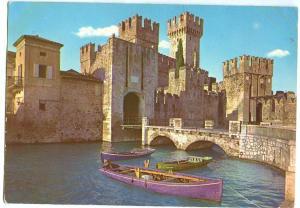 Italy, Lago di Garda, Sirmione, Il Castello, The Castle, 1961 used Postcard