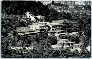 Vintage Kyoto JAPAN Postcard MIYAKO HOTEL Aerial View c1950s Unused