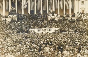 President Wilson Inaugural speech Washington DC 1913 Real Photo Little Art Shop