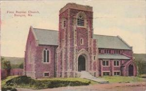 Maine Bangor First Baptist Church 1915