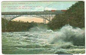 pc7858 postcard Train Bridge over Niagra Falls Whirlpool Not postally used UDB