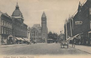 TORONTO, Ontario , 1900-10s ; College Street at Spadina